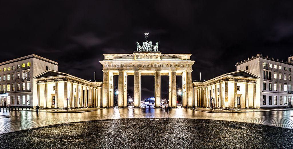 La puerta de Brandenburgo es el icono de la ciudad
