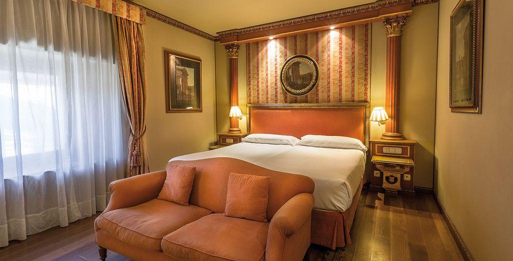 Un descanso gratificante durante tu estancia, en tu habitación doble