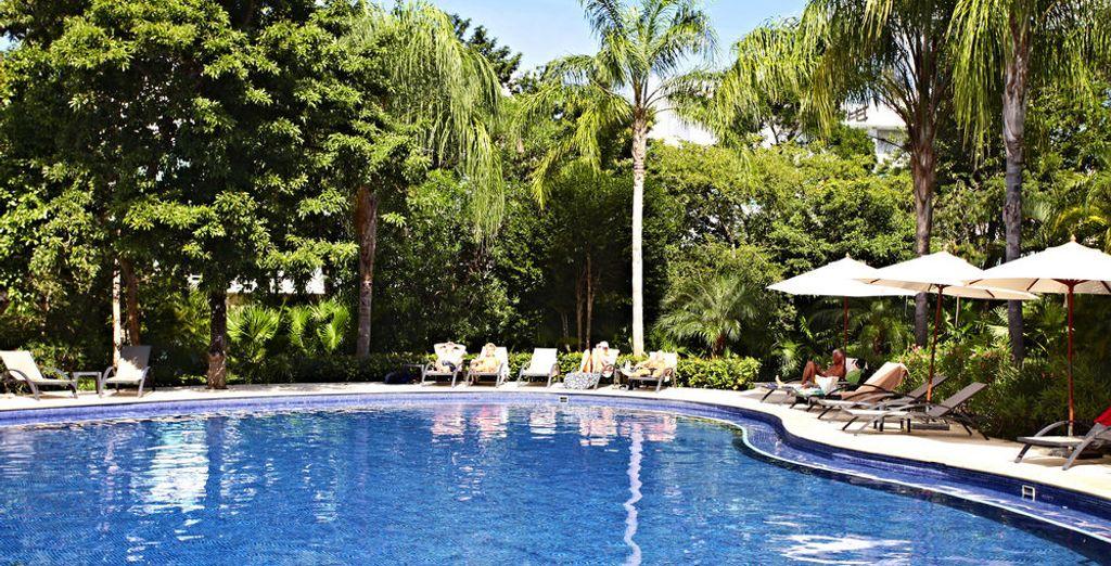 La piscine du Grand Bahia Principe n'attend plus que vous