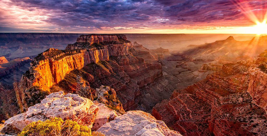 Ou encore devant Grand Canyon...