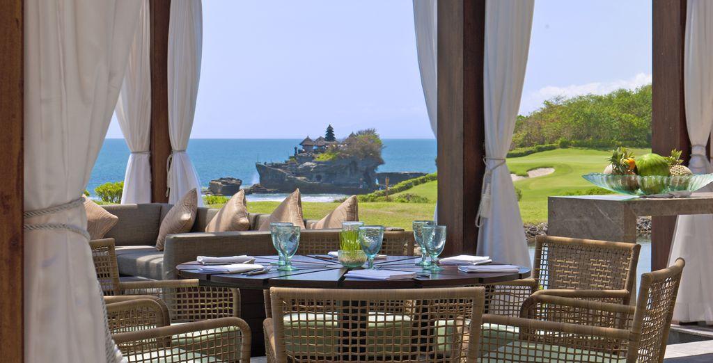 Déjeuner au restaurant Merica face à la baie