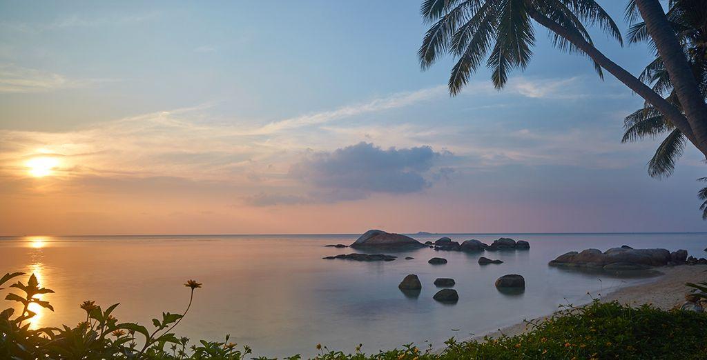 Le soir venu, admirez les couchers de soleil depuis la plage
