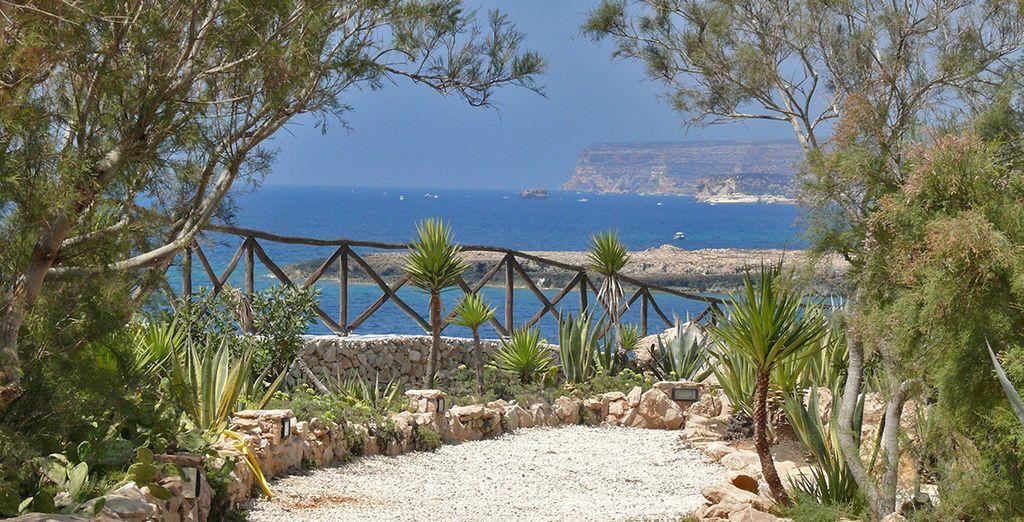 A pochi passi dal mare turchese di Lampedusa