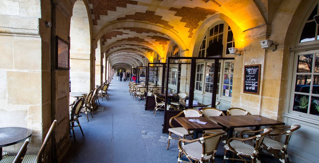 Become a true Parisian and sip a coffee on the terrace
