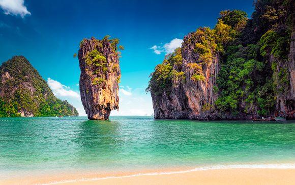 Paraísos de Tailandia y playa de Phuket