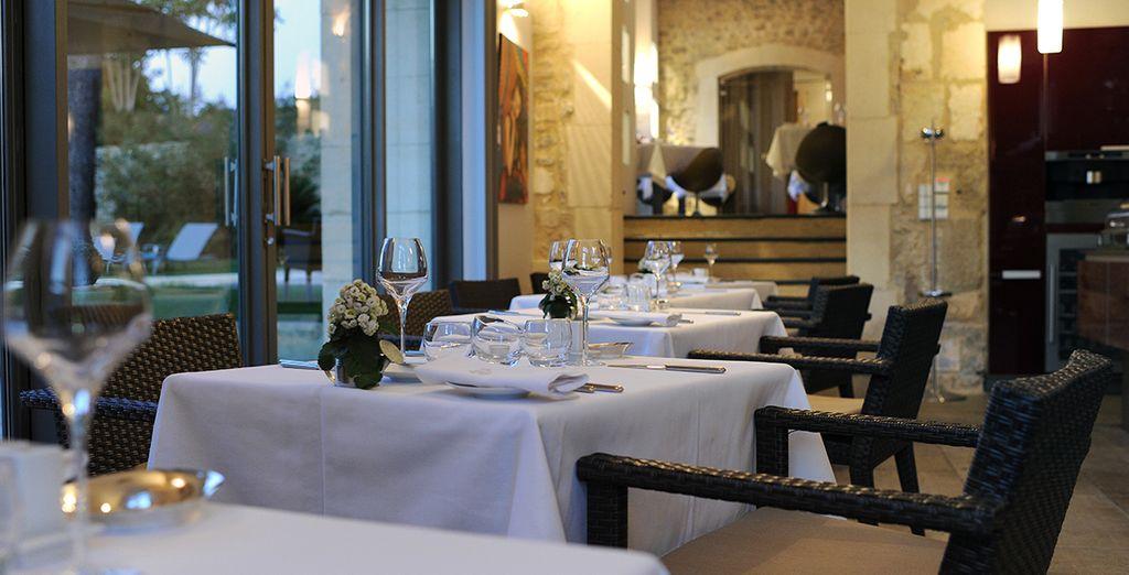 Und kosten Sie die wunderbare mediterrane Küche