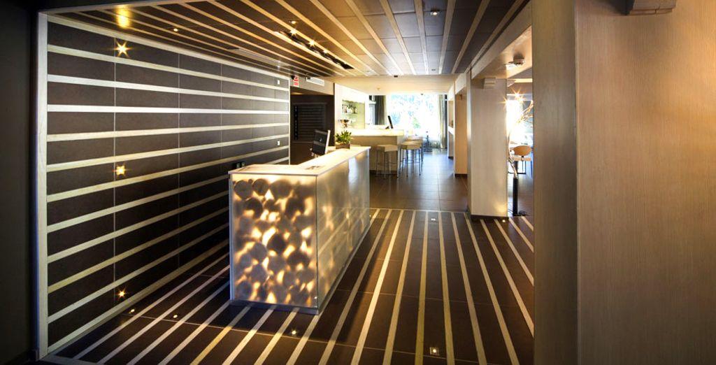Bewundern Sie das gemütliche und stilvolle Design des Hotels