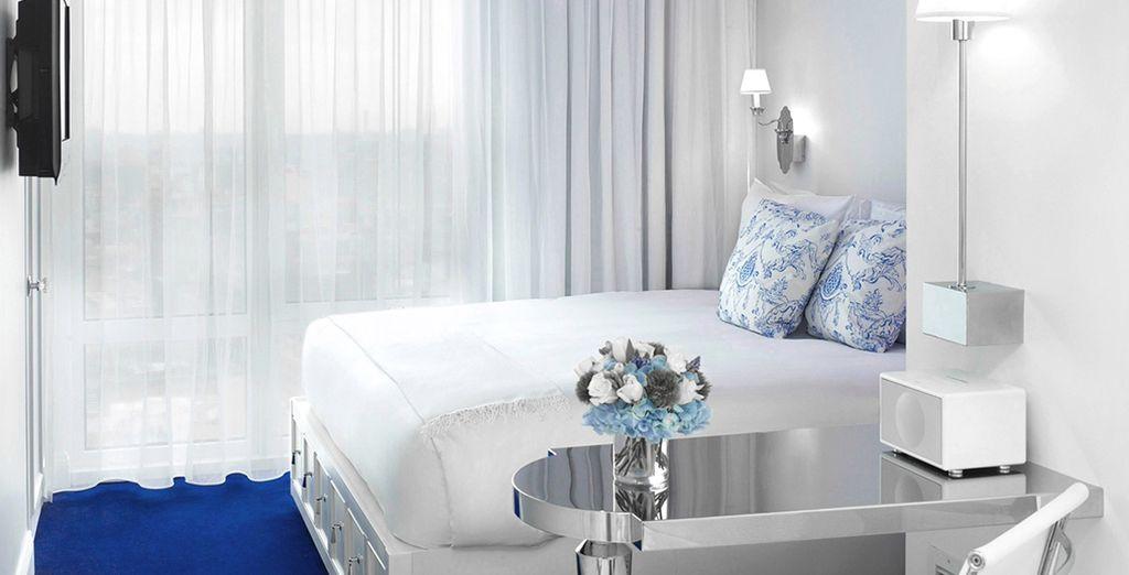 Optional können Sie sich für ein Upgrade auf ein King Zimmer entscheiden