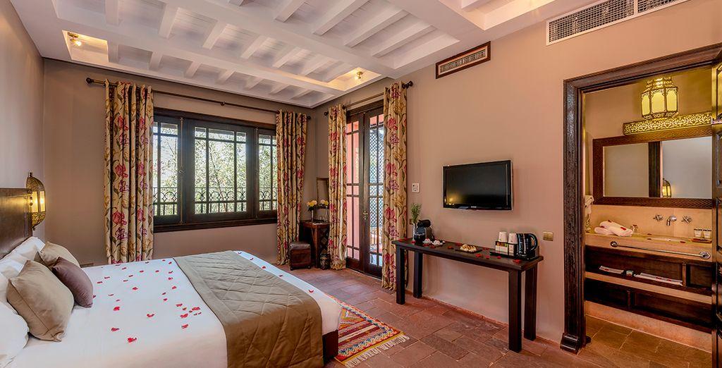 Oder in einem stilvoll und charmant eingerichteten Deluxe Zimmer