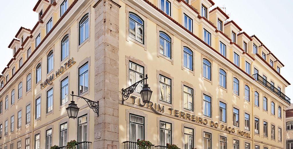 Das elegante Turim Terreiro Do Paco Hotel heißt Sie herzlich willkommen