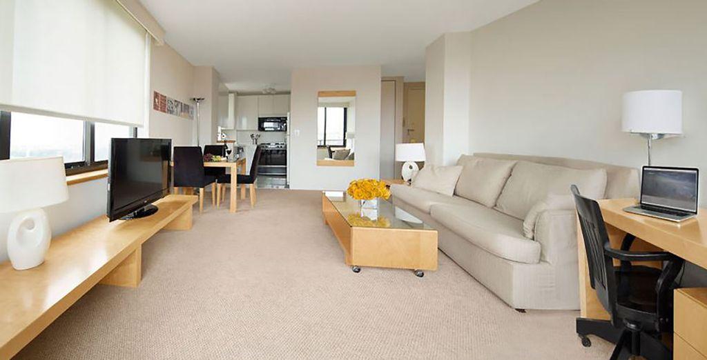 Dieses schicke Apartment in Manhattan warten schon auf Sie!