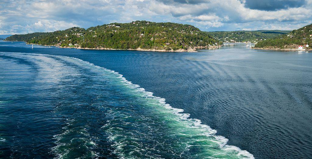 ...wo Sie die spektakuläre Landschaft vom Wasser aus bewundern können