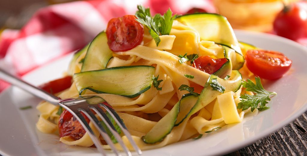 Von der schmackhaften italienischen Küche