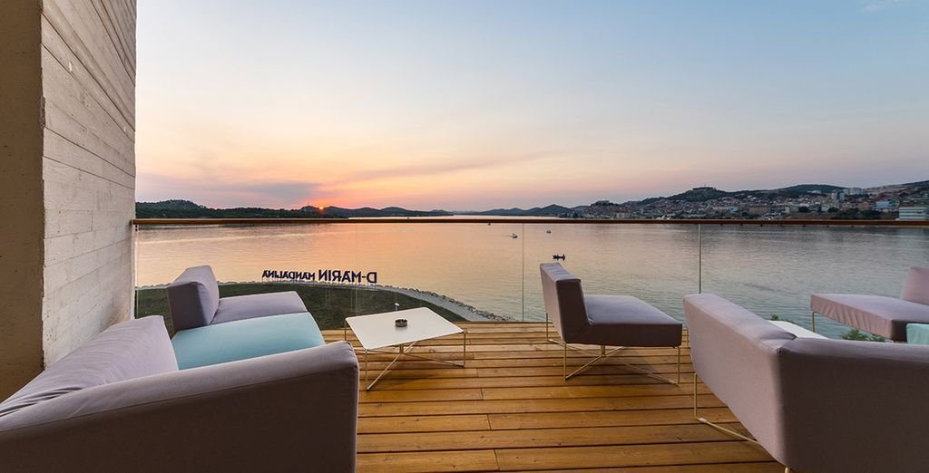 Oder auf der Terrasse... während Sie den Sonnenuntergang ansehen