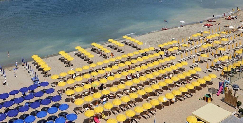 Sie können an der nahe gelegenen Riviera Entspannen und Sonnenbaden. Wir wünschen Ihnen einen schönen Aufenthalt!