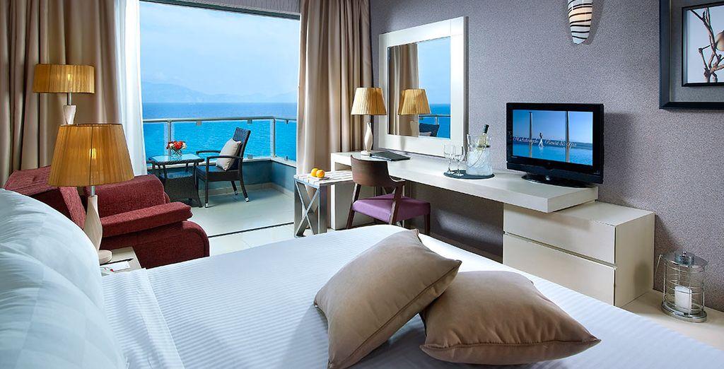 Ein luxuriöses Premium Sea Front Zimmer erwartet Sie