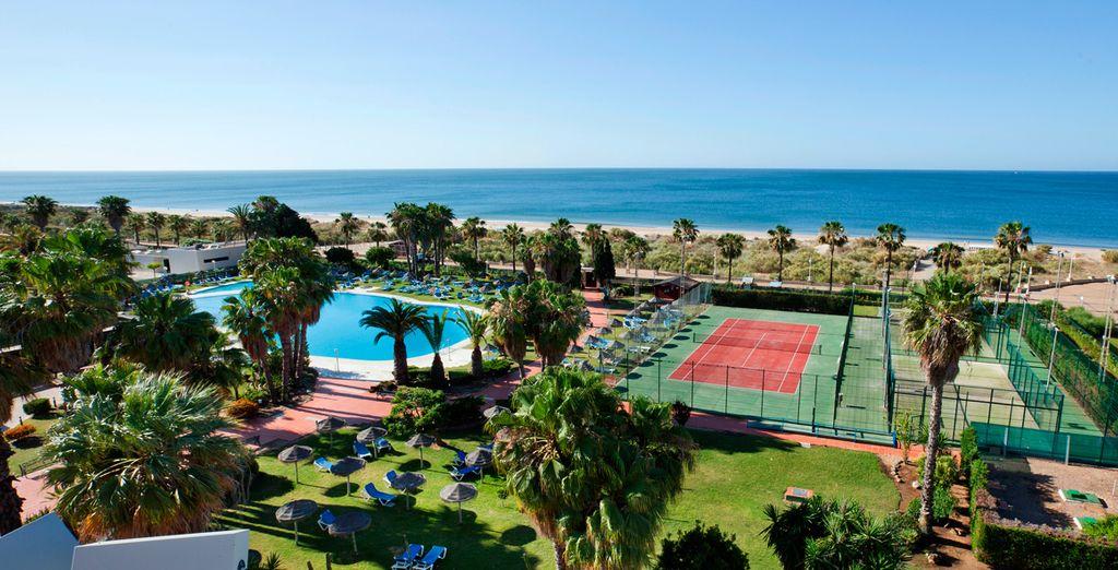 Ein Hotel direkt am Strand