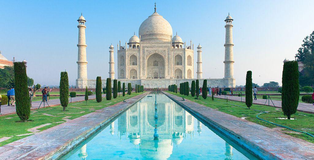 Den majestätischen Taj Mahal