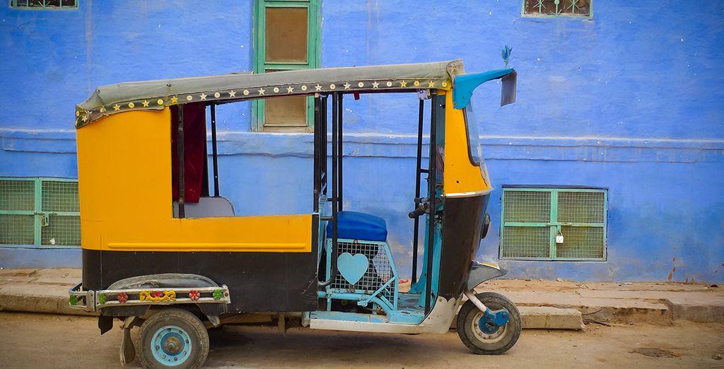 In einer Rickshaw