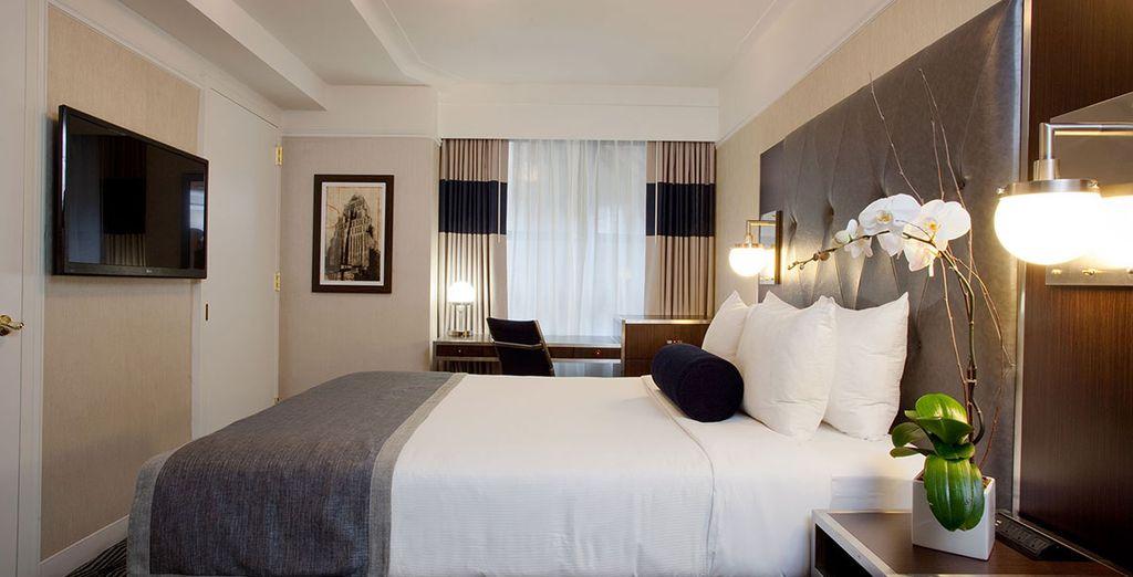 Ein komfortables Zimmer steht für Sie bereit