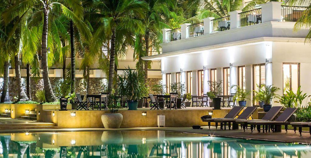 Sie übernachten im Lotus Blanc Hotel in Siem Reap...