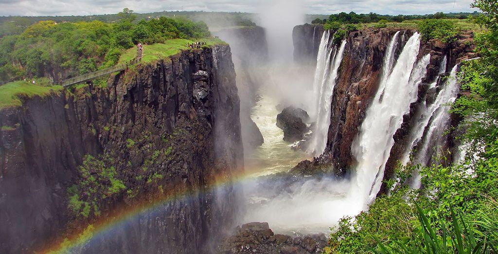 Entscheiden Sie sich optional für die Victoria Wasserfälle... Sensationell!
