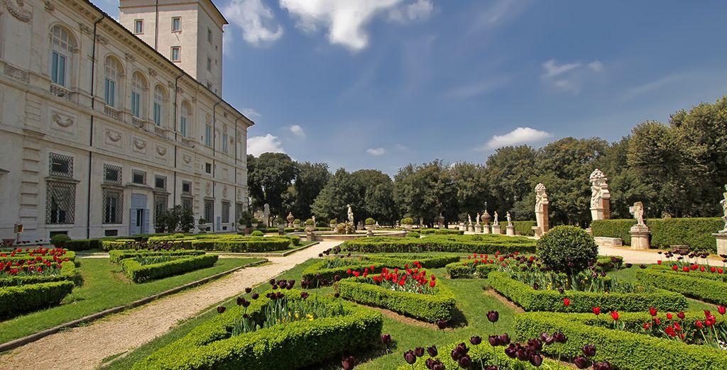 Das Hotel befindet sich gleich gegenüber der Villa Borghese...