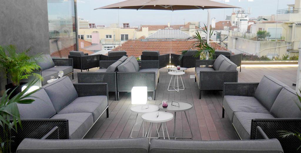 Oder auf der wunderschönen Terrasse des Hotels gemütlich zu machen