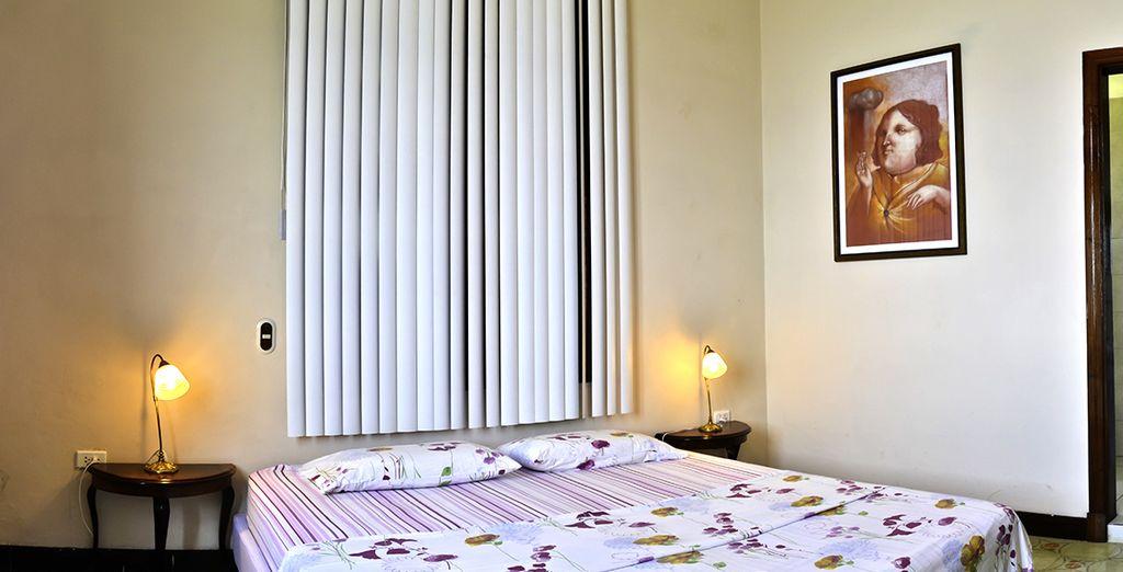 Ihr gemütliches Zimmer bietet eine moderne Ausstattung
