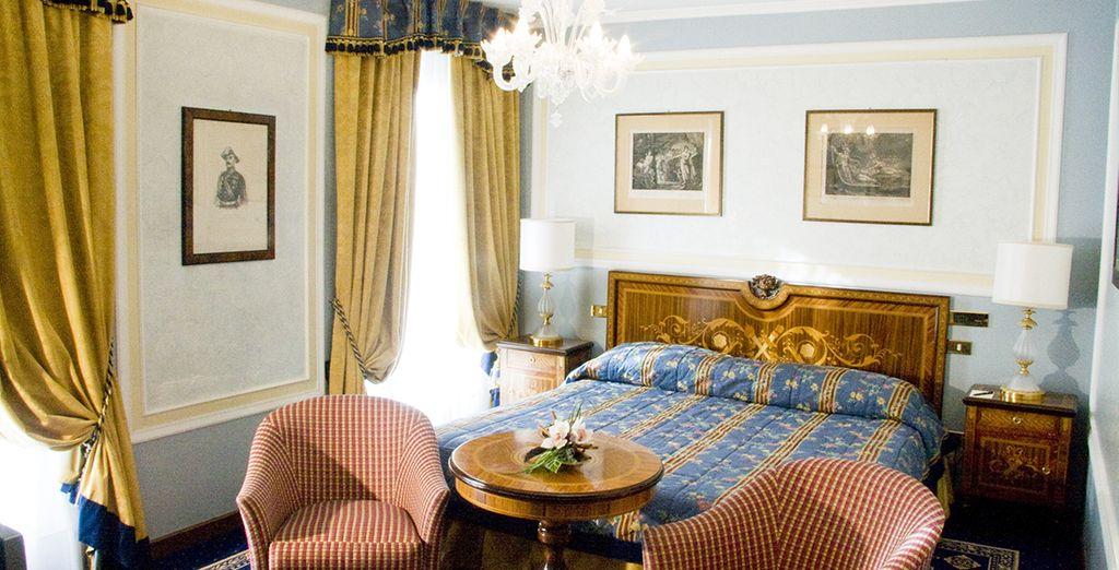 Sie übernachten im Classic Zimmer mit Gartenblick