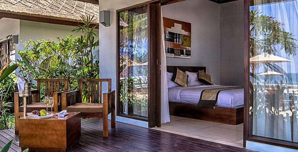 Genießen Sie die Ruhe des Garden View Zimmer