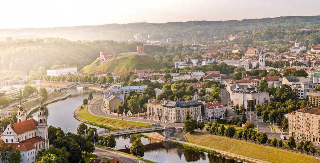 Sie starten in Vilnius, der Hauptstadt Litauens