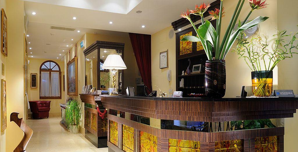 Befindet sich ein elegantes und romantisches Boutique-Hotel ...