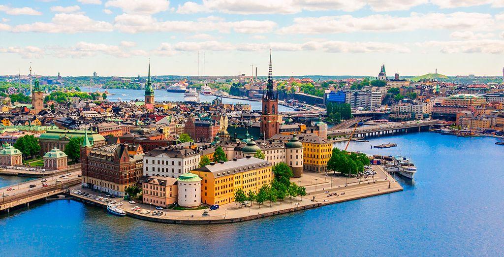 Sie beginne Ihre Reise in Stockholm