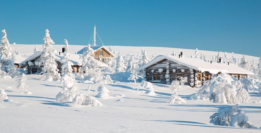 Sie halten in Saariselka, wo die Nordlichter bis zu 200 Tage im Jahr über den Himmel tanzen