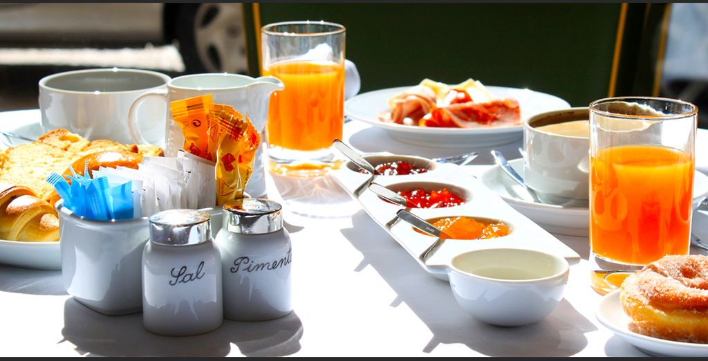 Genießen Sie ein reichhaltiges Frühstück