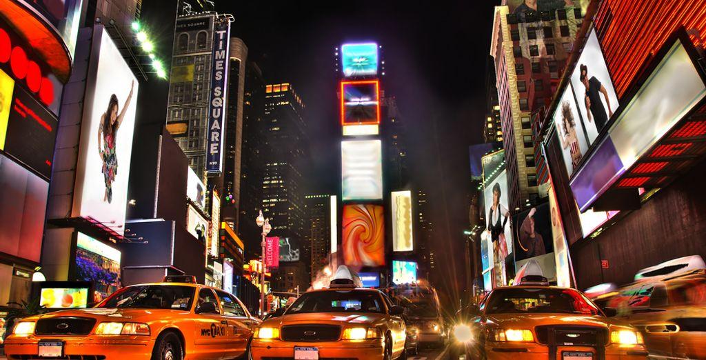Schlendern Sie über den berühmten Times Square