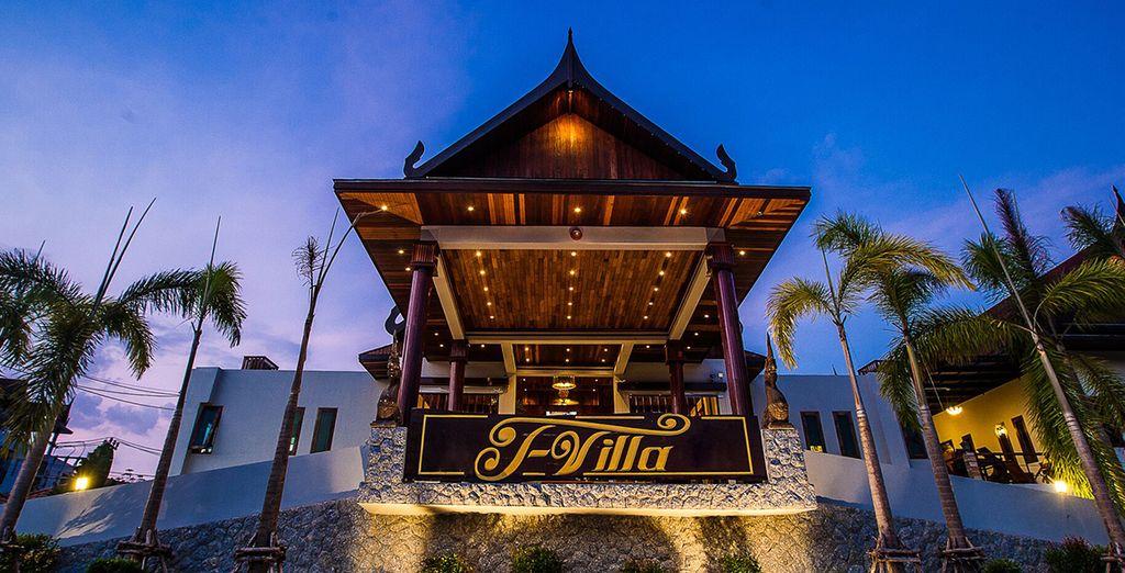 Das wundervolle Hotel wurde im thailändischen Stil erbaut