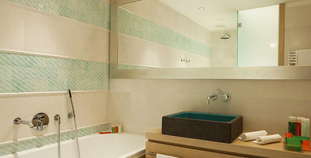 Genießen Sie ein komfortables Badezimmer