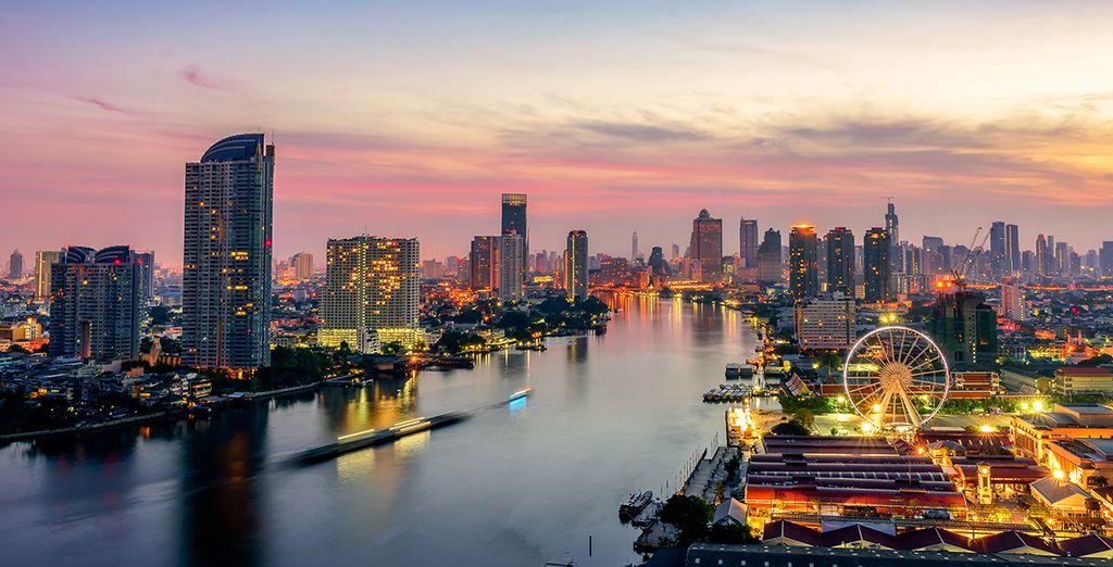 Optional können Sie sich für einen Zwischenstopp in Bangkok entscheiden