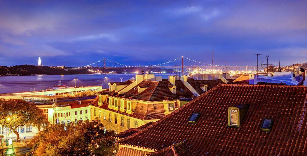 Das Hotel bietet einen wunderschönen Blick über Lissabon