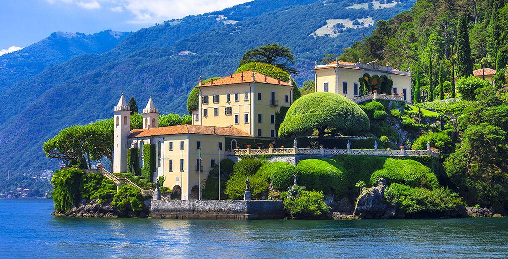 Die prächtigen Villen um den See