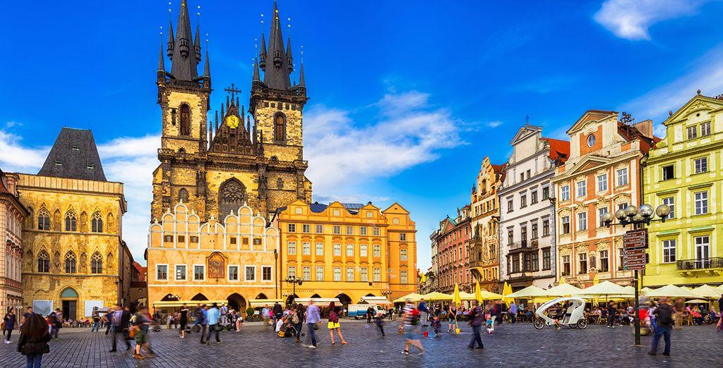 Unweit entfernt von den Sehenswürdigkeiten in Prag, wie zum Beispiel dem Wenzelplatz