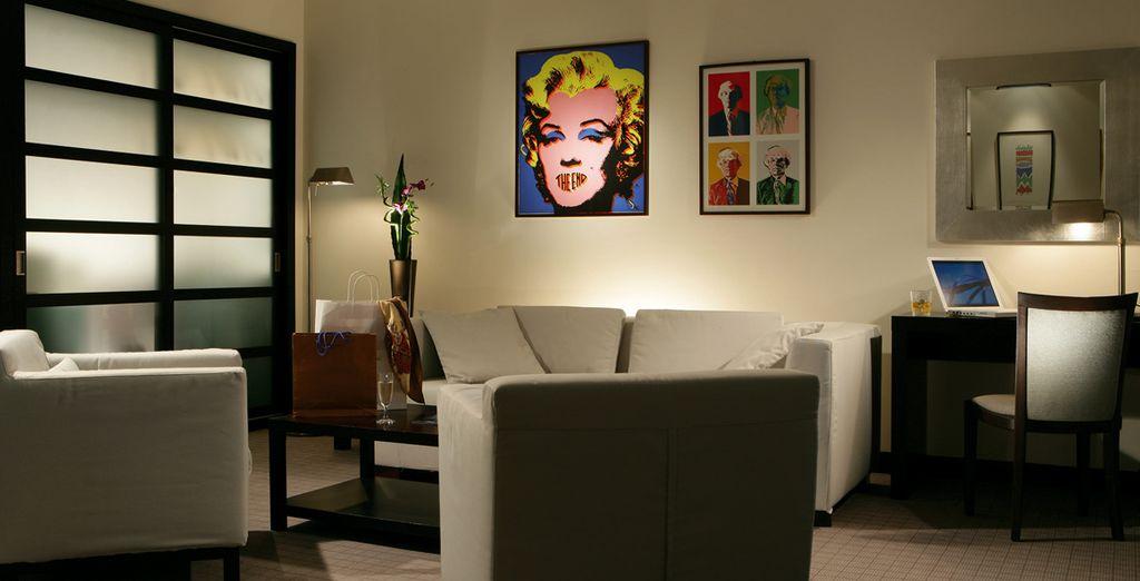 Im modernen Ambiente des Hotels