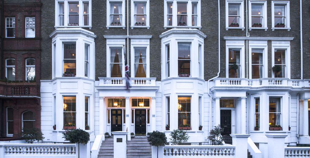 Das Hotel befindet sich in Kensington, dem westlichen Teil der Stadt