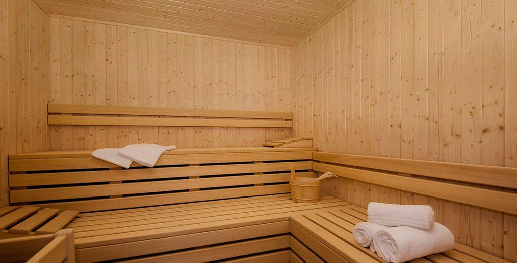 Entspannen Sie sich in der Sauna