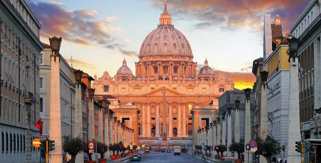 Oder sie gehen in Vatikan Stadt auf Entdeckungstour