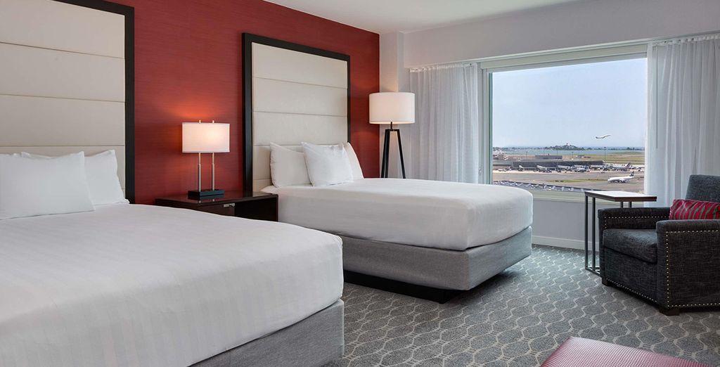 Sie übernachten in einem luxuriösen Standard Zimmer mit Ausblick