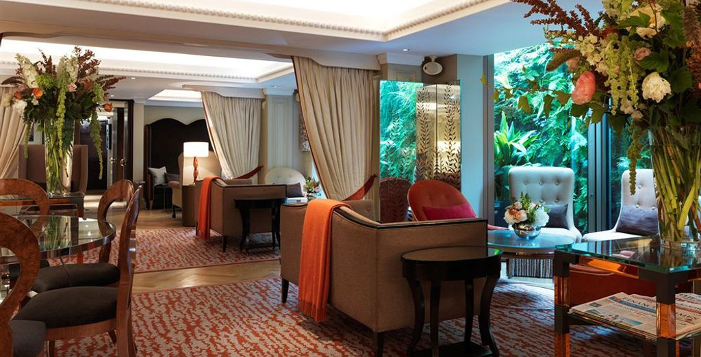 En este espléndido hotel de 5* con vistas al palacio de Buckingham