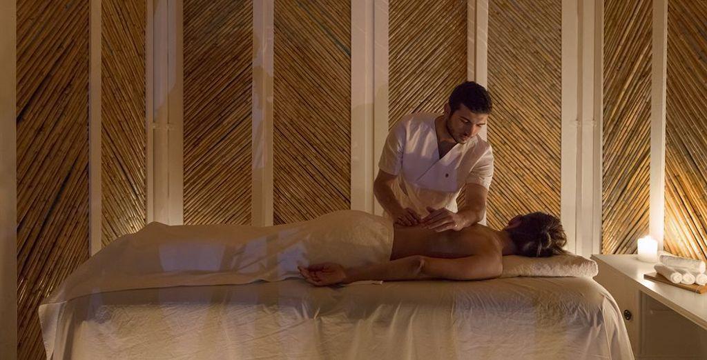 Date un masaje relajante en el spa
